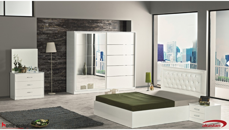 Paris Beyaz Yatak Odası