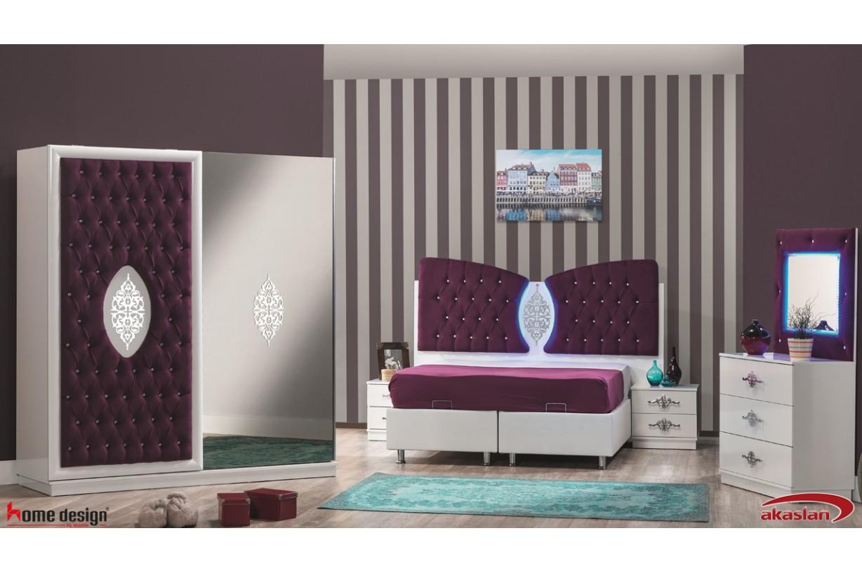 Resital Mor Yatak Odası