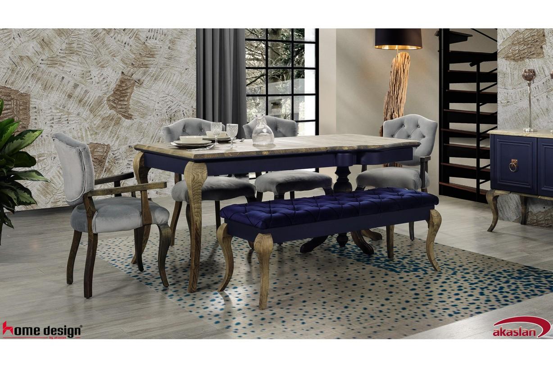 Lexus Mavi Ladin Yemek Odası