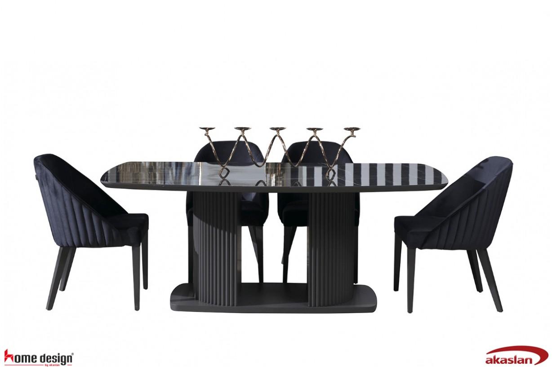 Bella Siyah RS Yemek Odası
