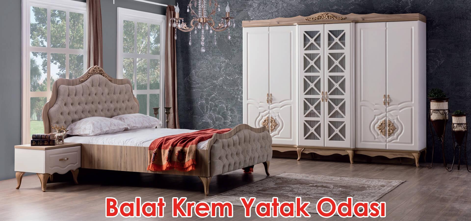 Balat Krem Yatak Odası