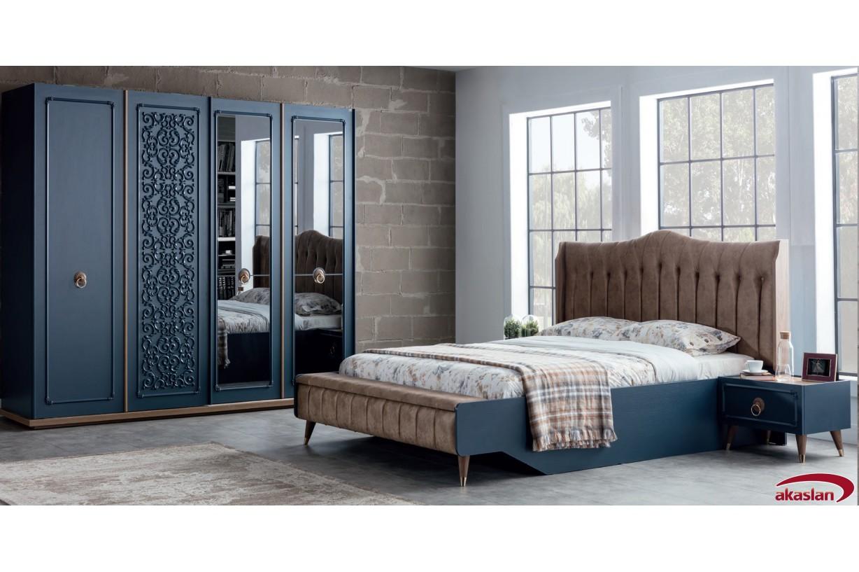 Boston Mavi Yatak Odası