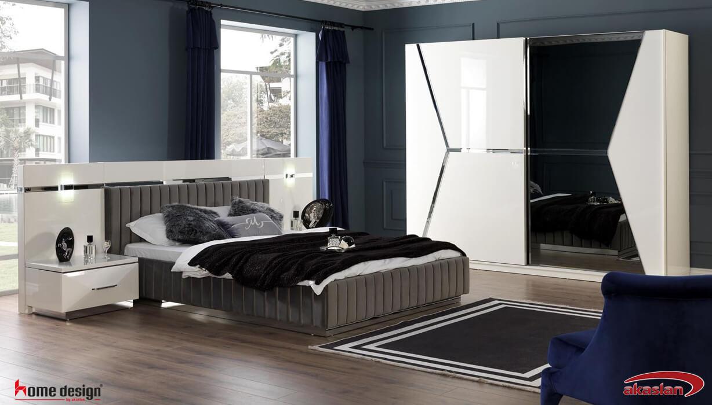 Enzio Yatak Odası  Beyaz