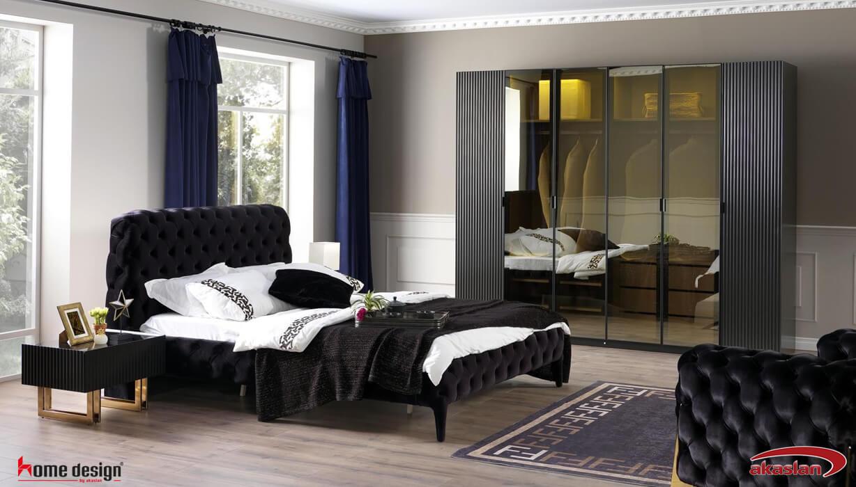Senfoni Yatak Odası  Siyah