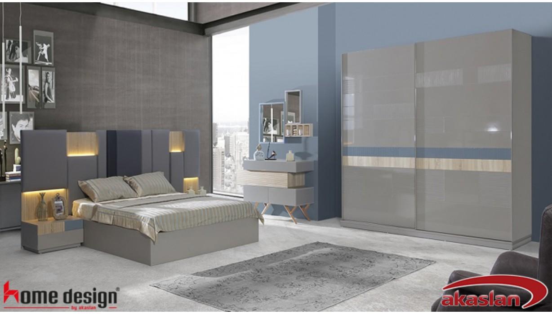 Palermo Taş Gri Yatak Odası